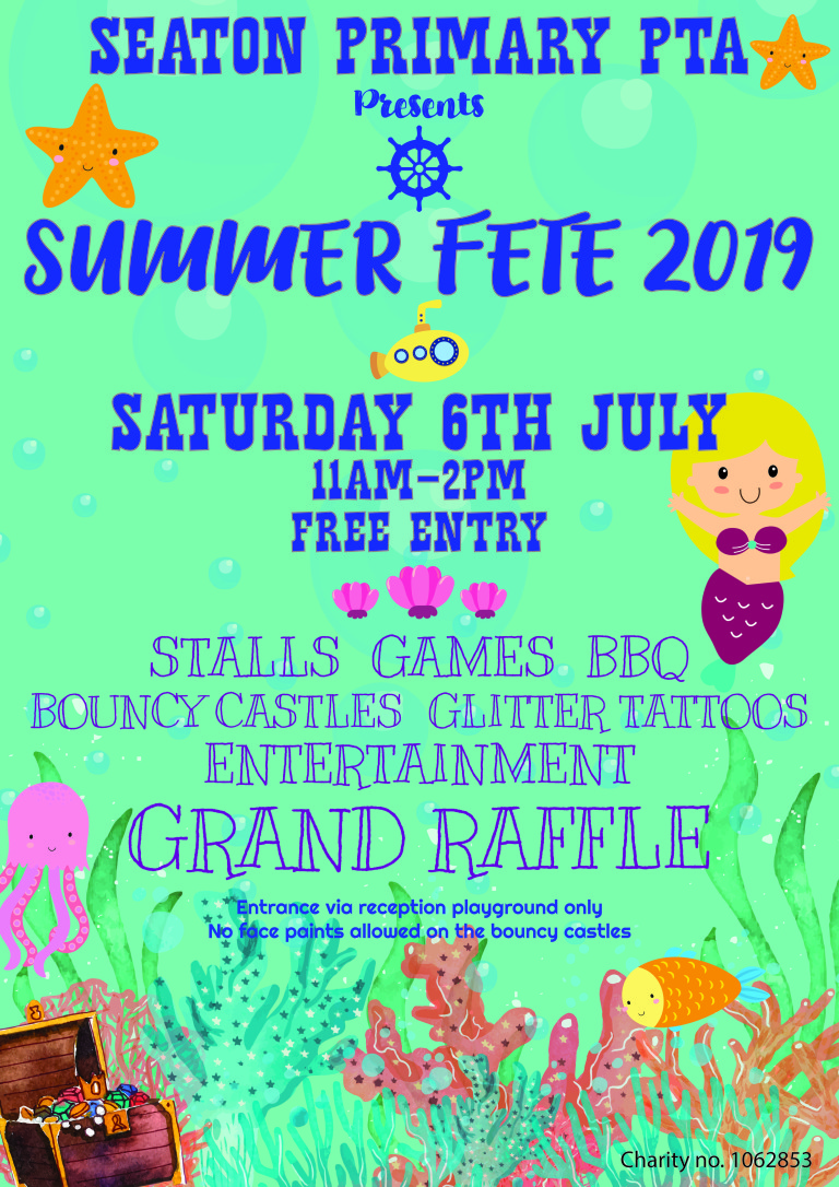 Under the sea PTA summer fete poster