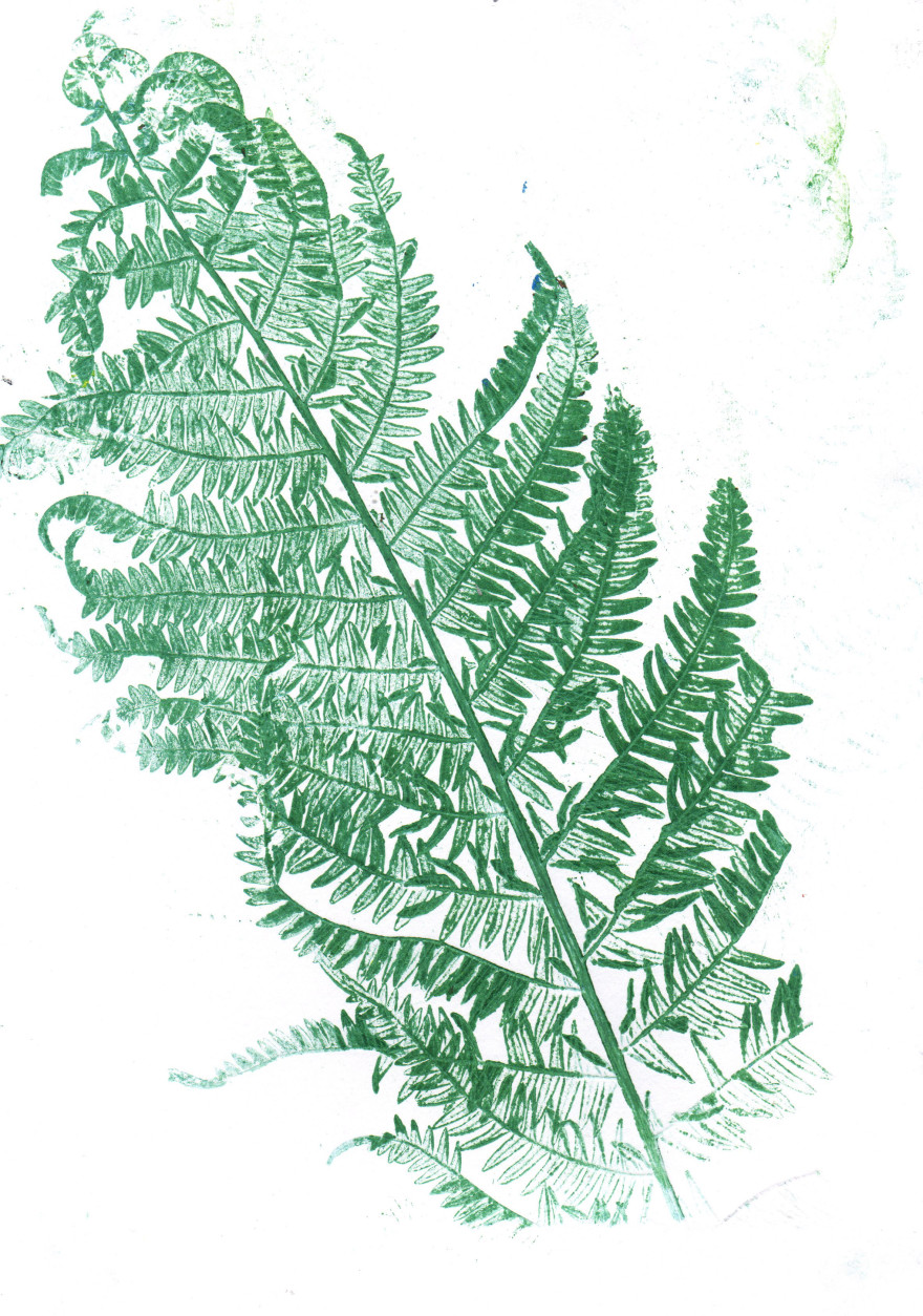 leafy mono print
